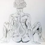 Dibujo con carbón Karlo Grados